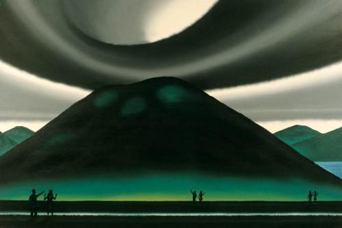 Couple Progressing Towards Mount Rincon, 1997