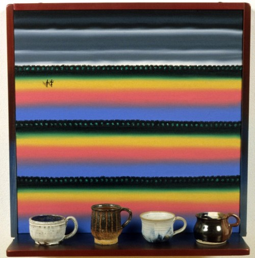 Virtual Still Life #17 Cups With Handles And Desert Landscape, 1995