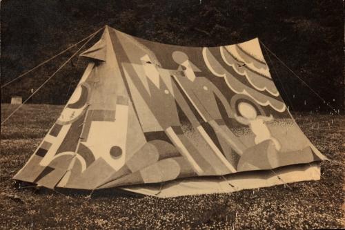Angus McBean. Decorated tent, c.1928.