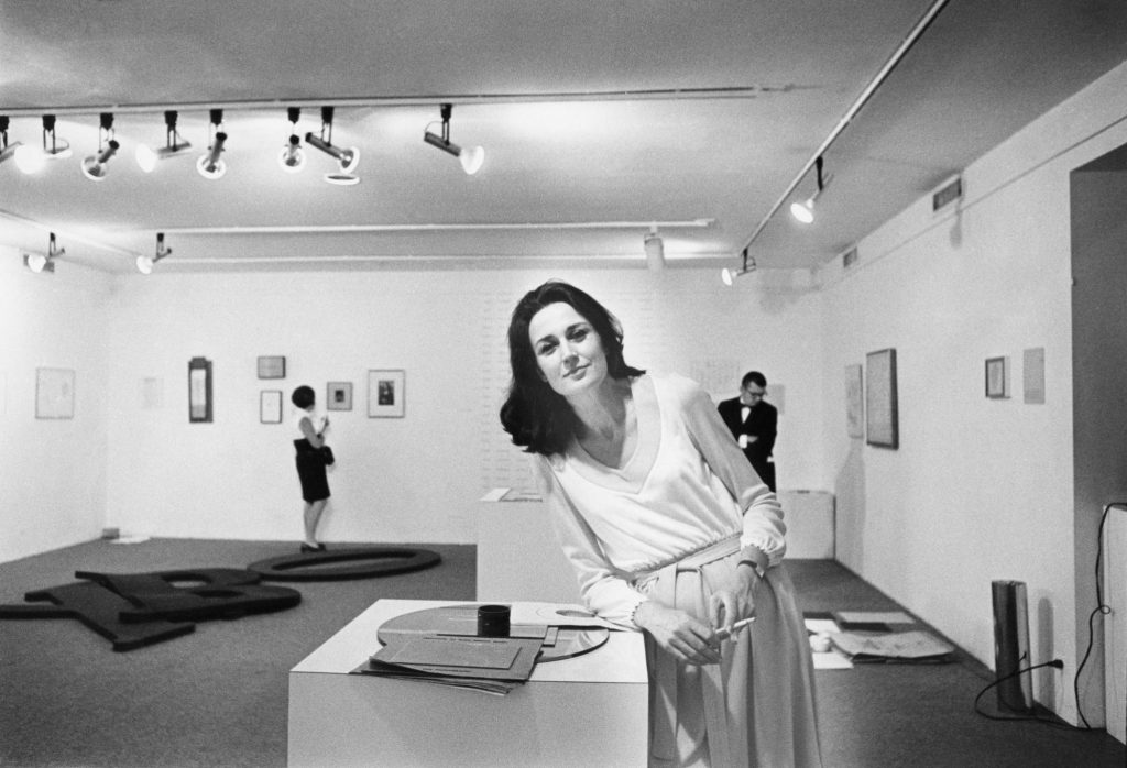 Virginia-Dwan-at-the-exhibition-Language-III-Dwan-Gallery-New-York-1969